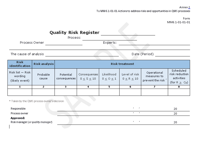 risk and opportunity procedure pdf